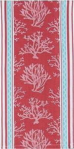 Kay Dee Designs Beach House Inspirations Coral Jacquard Tea Towel
