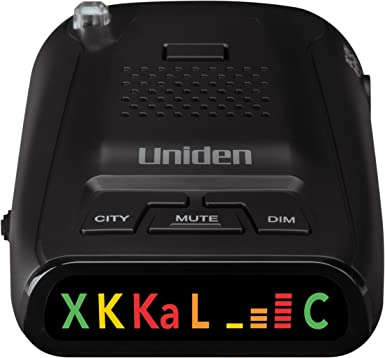 Uniden DFR1 Long Range Laser and Radar Detection, 360 Protection, City and Highway Modes, Easy-to-Read Color Icon Display with Signal Strength Meter Bars