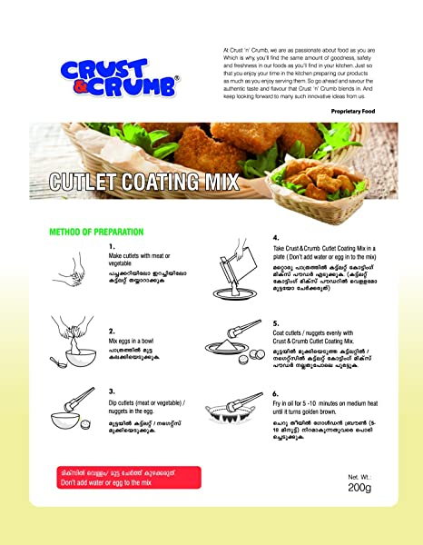 Crust & Crumb Cutlet Coating Mix: Amazon in: Grocery