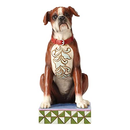 Enesco Jim Shore Heartwood Creek Bruno Boxer Figurine 4056958 Dog Pet Decoration New