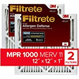 Filtrete 12x12x1, AC Furnace Air Filter, MPR 1000, Micro Allergen Defense, 2-Pack