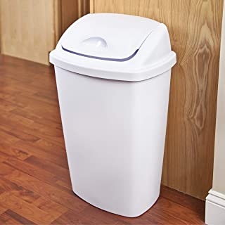product image for Sterilite 10888004 13.2 Gallon/50 Liter SwingTop Wastebasket, White, 4-Pack