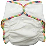 Heavy Wetter Bamboo / Organic Cotton One Size Fitted Diaper (Fits 7-25lbs)