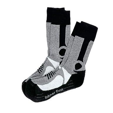 vente chaude en ligne 8b274 0d9db Rohner Chaussettes de randonnée, Noir/Gris: Amazon.fr ...