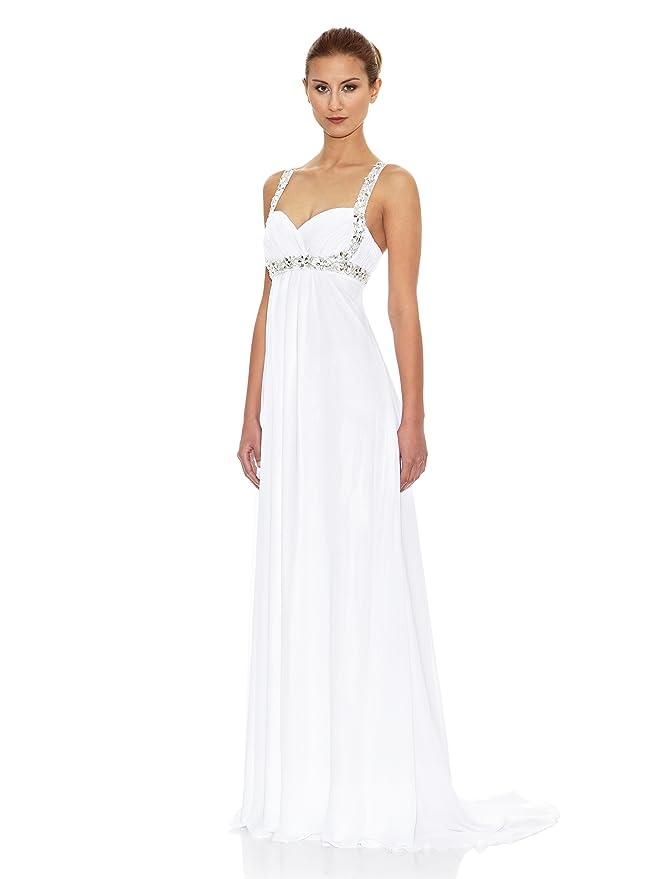 KOTOSH Vestido de Novia Corte Imperio Escote Corazón Blanco 38: Amazon.es: Ropa y accesorios