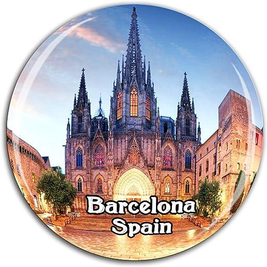 Catedral de Barcelona Barrio Gótico, España, Imán de Nevera ...