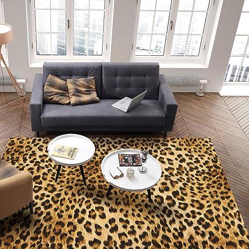 Leopard Print Area Rug 5' x 8'