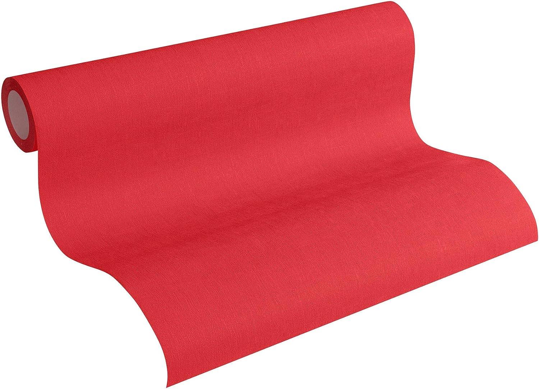 Rouleau = 5,33 m/² 10,05 x 0,53 m Papier peint intiss/é uni 346230 34623-0 A.S Cr/éation Colours of the world Rouge
