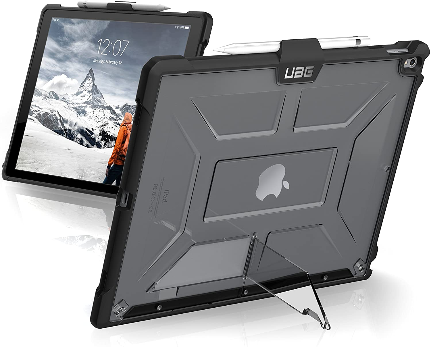 Urban Armor Gear UAG iPad Pro 12.9-inch (2nd Gen, 2017) & iPad Pro 12.9-inch (1st Gen, 2015) Plasma Feather-Light Rugged [Ice] Military Drop Tested iPad Case