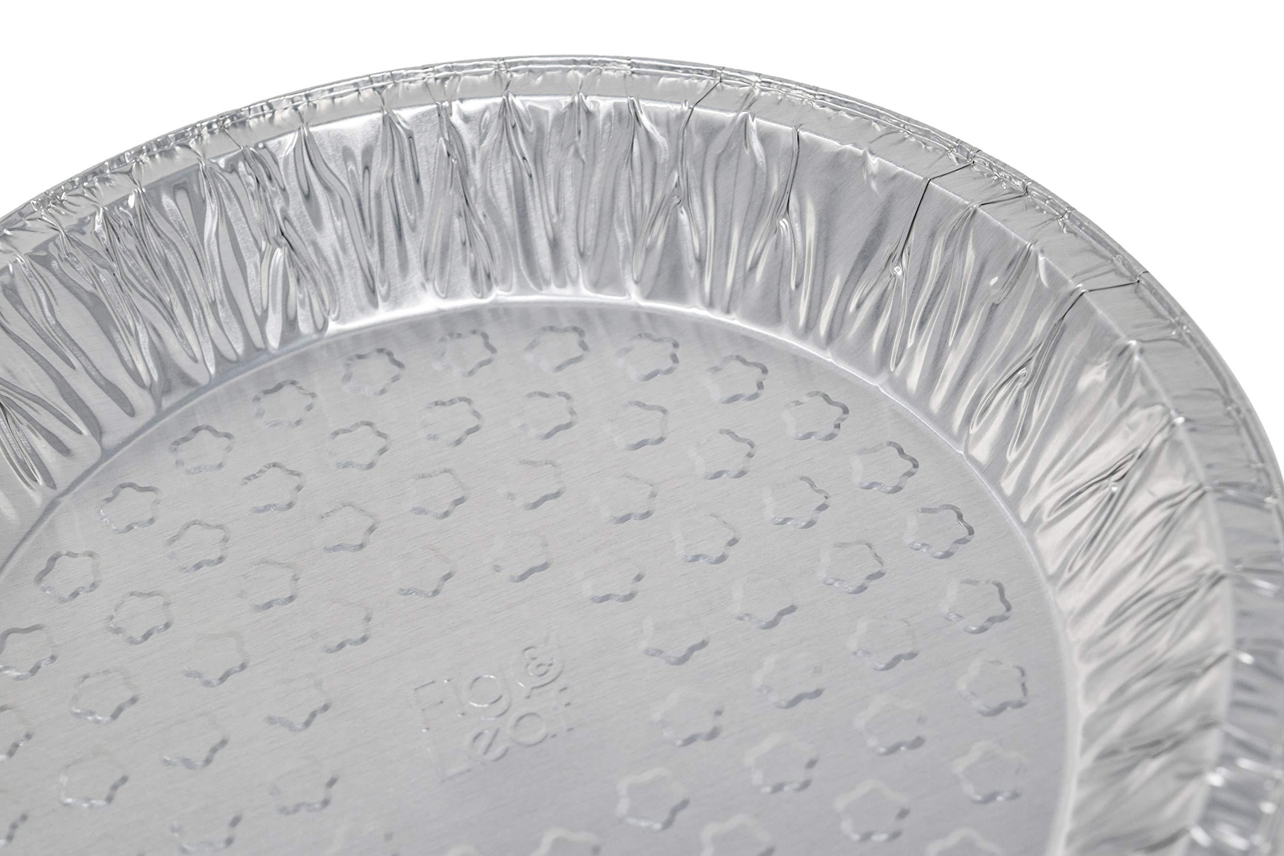 Fig & Leaf (120 Pack) Premium 9-Inch Pie Pans l 36 Gauge l Disposable Tart Pan Tin Plates Aluminum Foil for Baking Quiche by Fig & Leaf (Image #6)