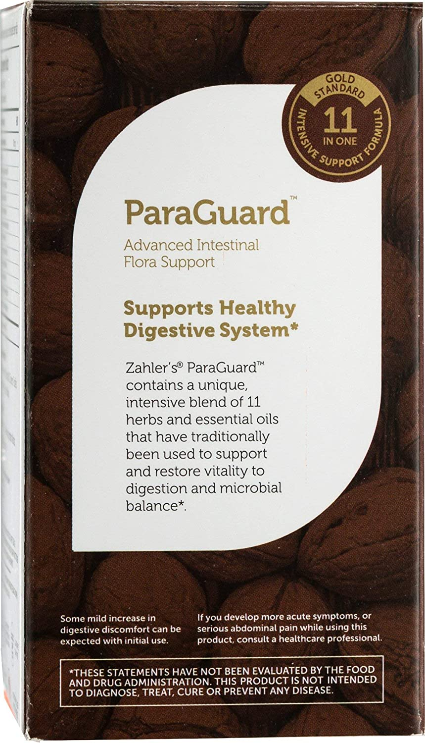 New Zahler ParaGuard, Advanced Intestinal Support for Humans, Contains Wormwood, Certified Kosher, 90 Tiny Softgels