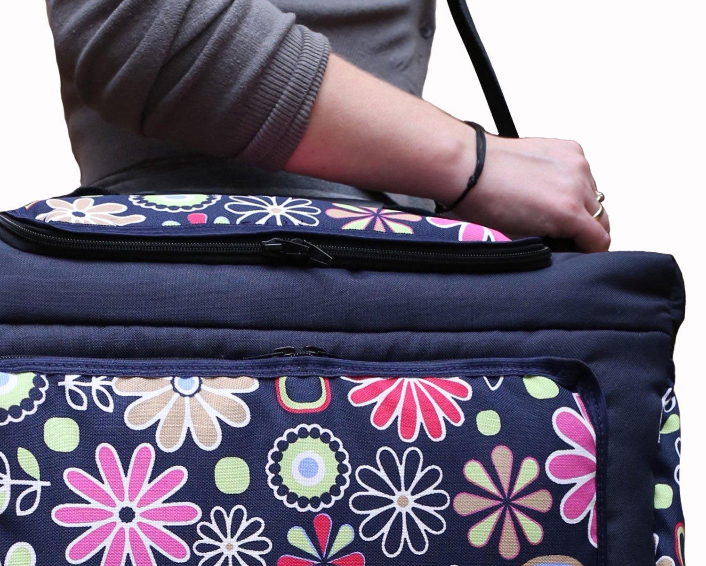 Wickeltasche KIM Baby-Joy XXL XXXL /Übergro/ß Windeltasche Pflegetasche Babytasche Tragetasche TP-20 Graphit Blumen IV