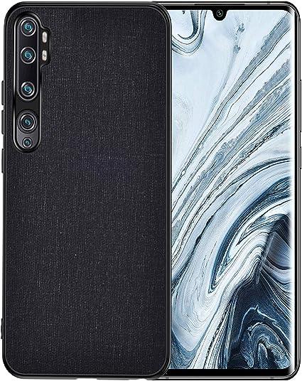 Cover Xiaomi Mi Note 10 Spigen Custodia Protettiva [Rugged Armor] Antiurto Nero
