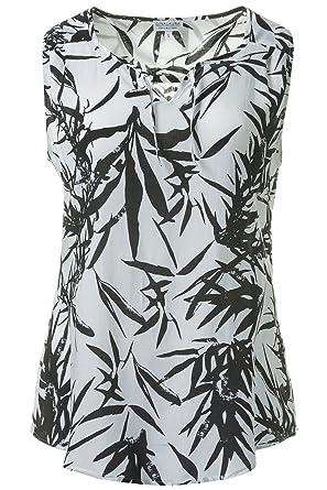 Gina Laura /%Sale/% blouse with allover print schwarz NEU