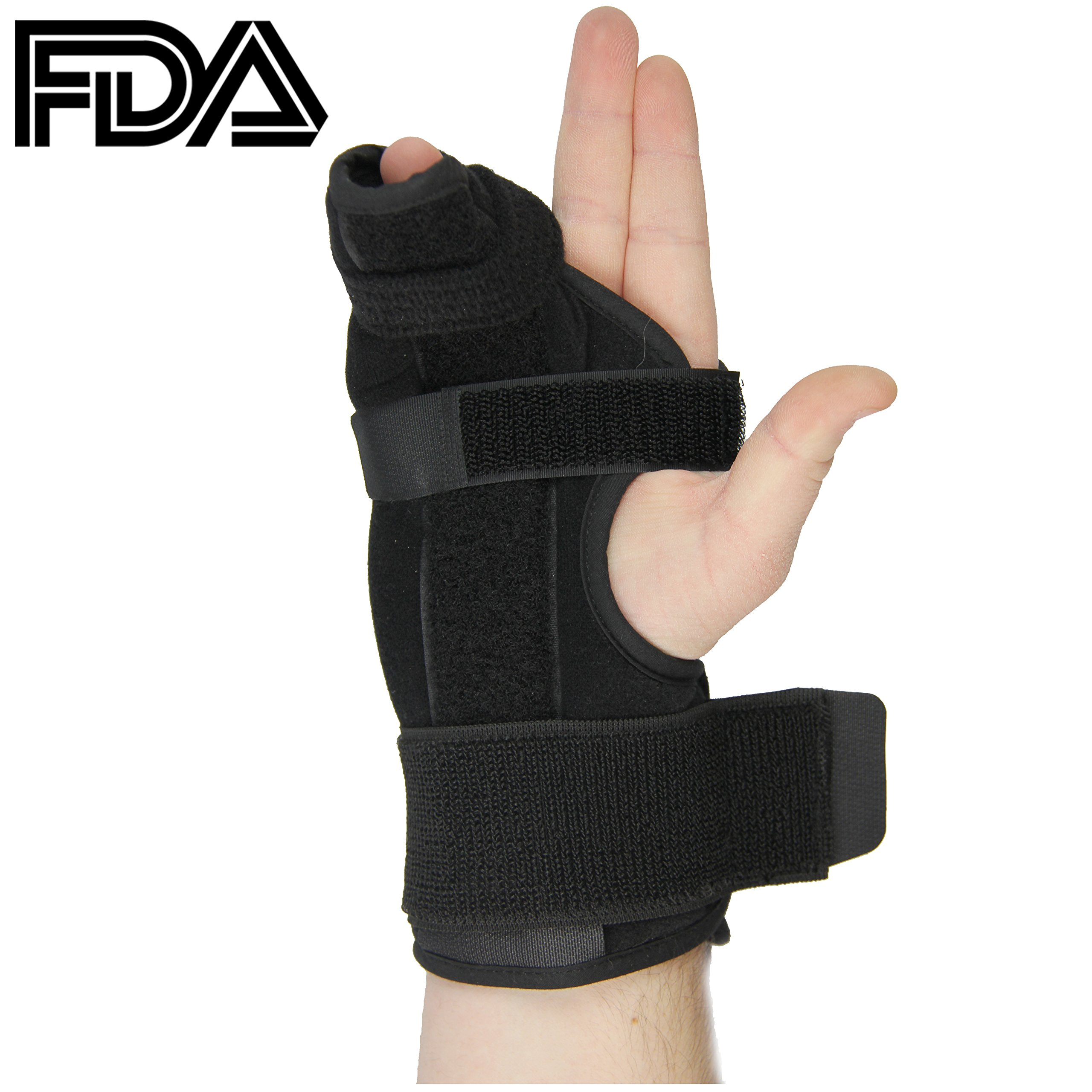 Metacarpal Splint- Boxer Splint for Right Hand, Easy to Put On and Take Off, Stabilizing Splint for Metacarpal and Hand Injuries, FDA Approved, a U.S. Solid Product (Medium)