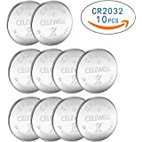 10 Pack CELEWELL CR2032 Battery 230mAh 3 Volt Lithium Battery Coin Button Cell 3 Years Warranty