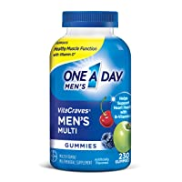 One A Day Men's VitaCraves Multivitamin Gummies, Supplement with Vitamin A, Vitamin C, Vitamin D, Vitmain E, Calcium & more, 230 count