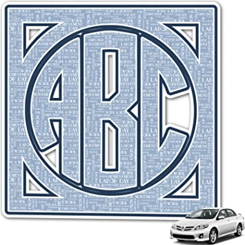Amazoncom Labor Day Monogram Car Decal Personalized Automotive - Monogram car decal amazon