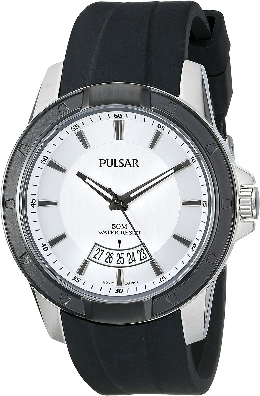 Pulsar Men's PS9277 On The Go Analog Display Japanese Quartz Black Watch