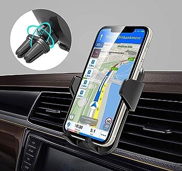 Babacom Soporte Móvil Coche, [Clip Doble] 360° Rotación Soporte Smartphone Coche para Rejillas del Aire con Liberación de un Botón para iPhone 11 Pro/XS MAX/XR/X/8, Samsung, Huawei y Más: Amazon.es: Electrónica