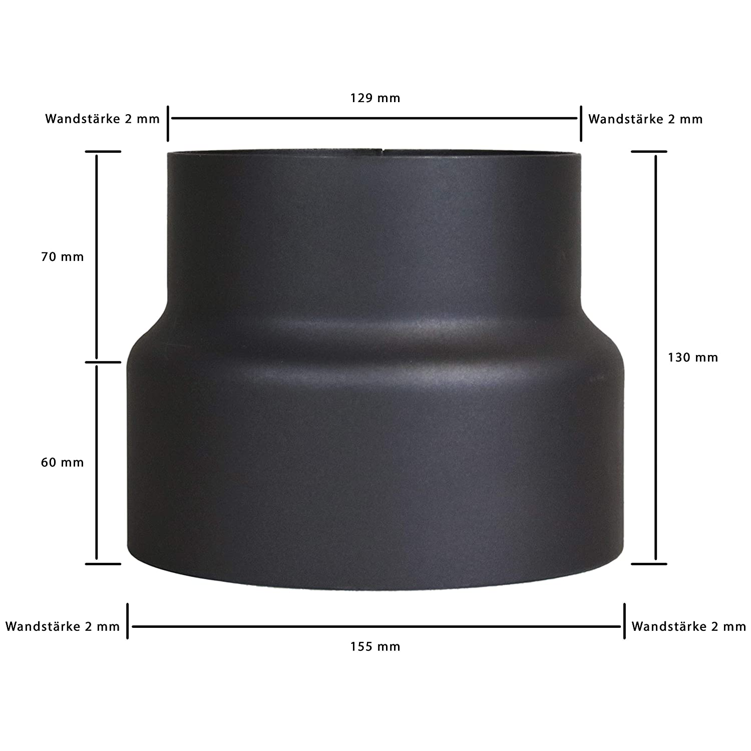 Lanzzas for Stove Pipe Chimney Pipe Offset Bend Offset Double Sheet Bunk Sheet 120/mm Diameter 150/mm Black