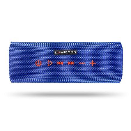 Lumiford Stereo Blue Log Bluetooth Speaker Bluetooth Speakers at amazon
