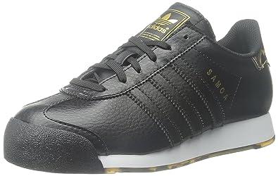 adidas Originals Samoa Sneaker (Little Kid/Big Kid), Black/Black/