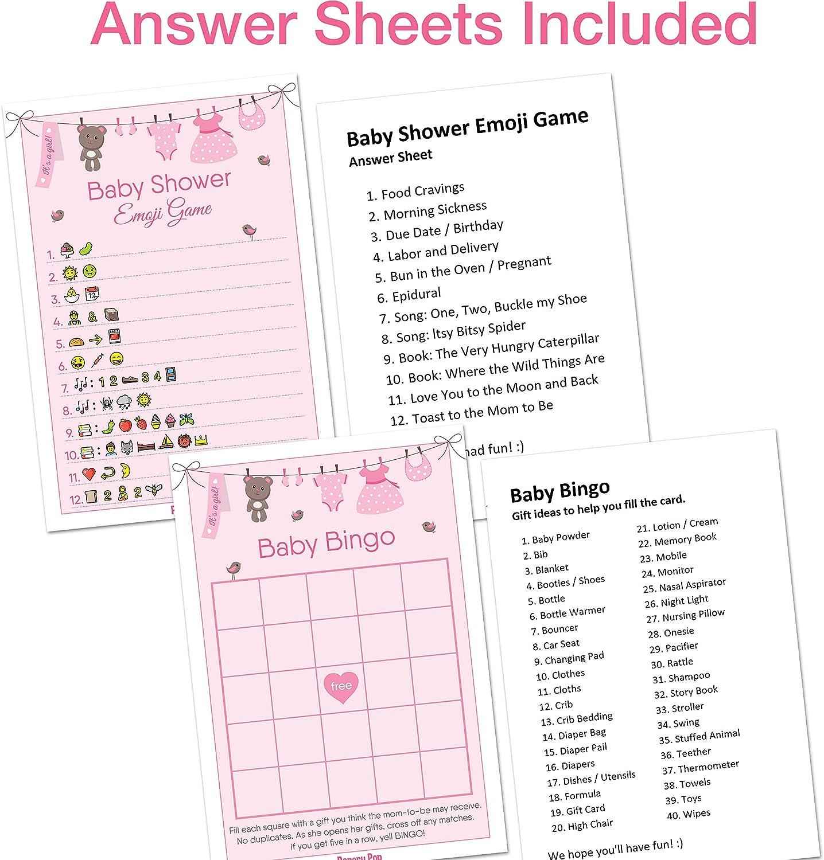 MEGA Bundle Baby shower games Shower Activity Pack s8bb Pink and Gold Baby shower games Package Girl Baby Shower Set Shower Activities