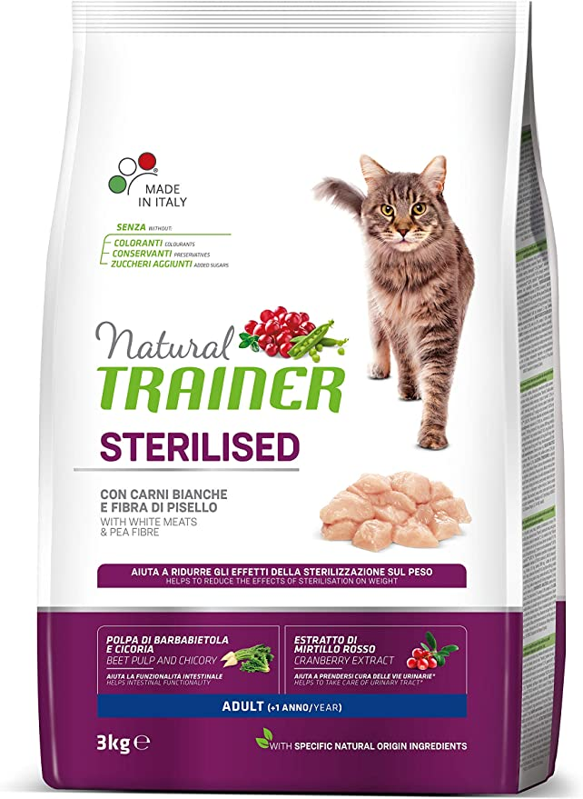 Natural TR. Gato Adult Sterilised Carni Blancas kg. 3: Amazon.es: Productos para mascotas