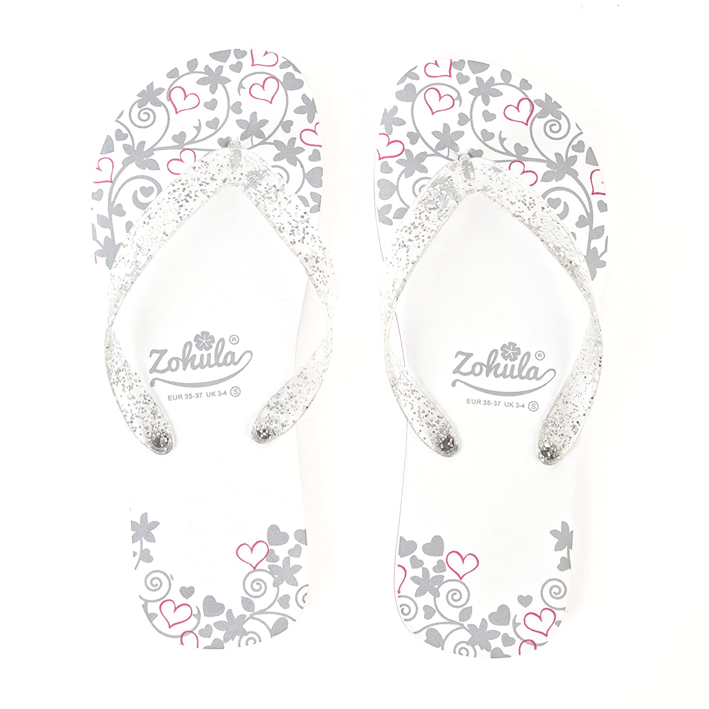 29a5241e737b2a Zohula Just Married Wedding Flip Flops (Medium 5-6)  Amazon.co.uk  Shoes    Bags