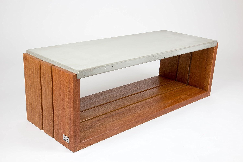 Carvido Couchtisch Und Loungetisch Beton Mit Bangkirai Betonmöbel
