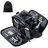 Elviros Toiletry Bag for Men Large Travel Shaving Dopp Kit Water-resistant Bathroom Toiletries Organizer PU Leather…