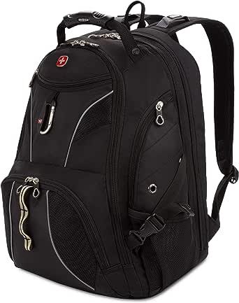 SWISSGEAR SA1923B BLACK/SILVER TSA Friendly ScanSmart Laptop Backpack - Fits Most 15 Inch Laptops and Tablets