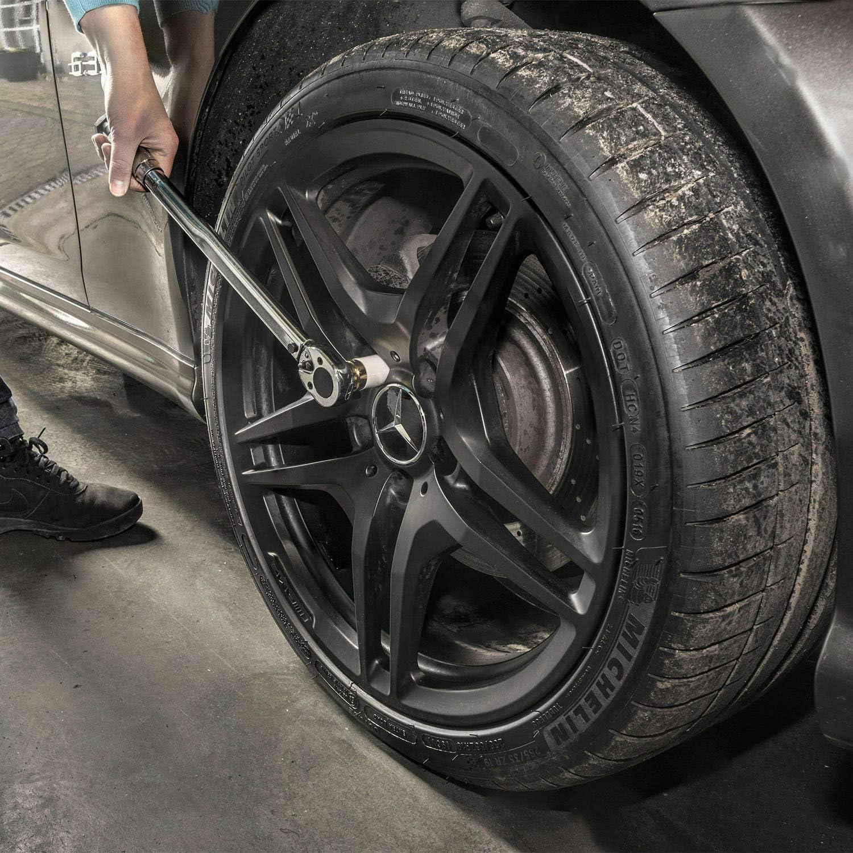 Fuyee Cl/é dynamom/étrique 1//2 28-210 NM avec cl/é /à Chocs et Douilles pour Changement de pneus