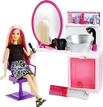 poupes barbie chez le coiffeur