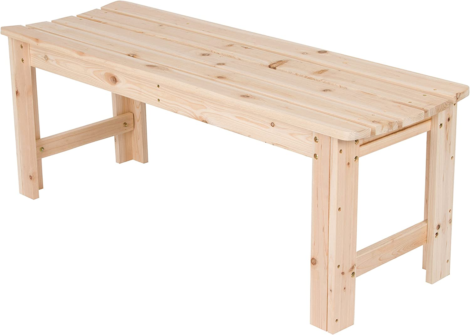 Shine Company Inc. 4204N Backless Garden Bench, 4 Ft, Natural