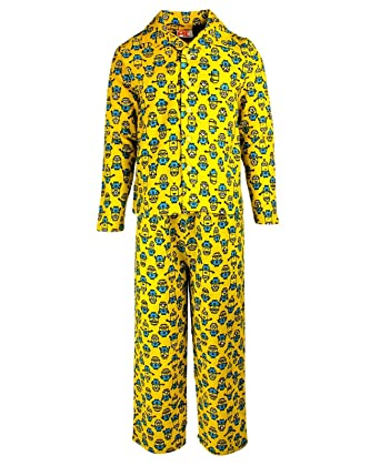 4e95babfaf8fc MINIONS Boys Pyjamas Flannel 3-10 Years Yellow: Amazon.co.uk: Clothing