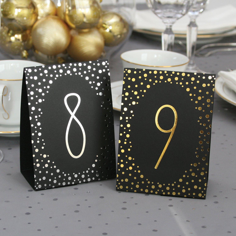 hortense b hewitt wedding accessories gold polka dot table tents