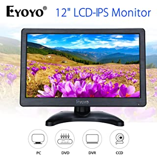 Eyoyo 12 inch HD 1920x1080 IPS LCD HDMI Monitor Screen Input Audio Video Display with BNC Cable for PC Computer Camera DVD Security CCTV DVR Home Office Surveillance