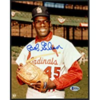 $39 » Bob Gibson Autographed 8x10 Photo St. Louis Cardinals Signed In Blue Beckett BAS Stock #153140