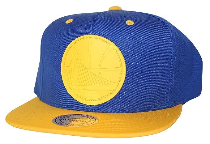 huge selection of be2cf 888bc Mitchell   Ness Men s NBA XL Rubber Weld Logo Snapback Cap, Golden State  Warriors