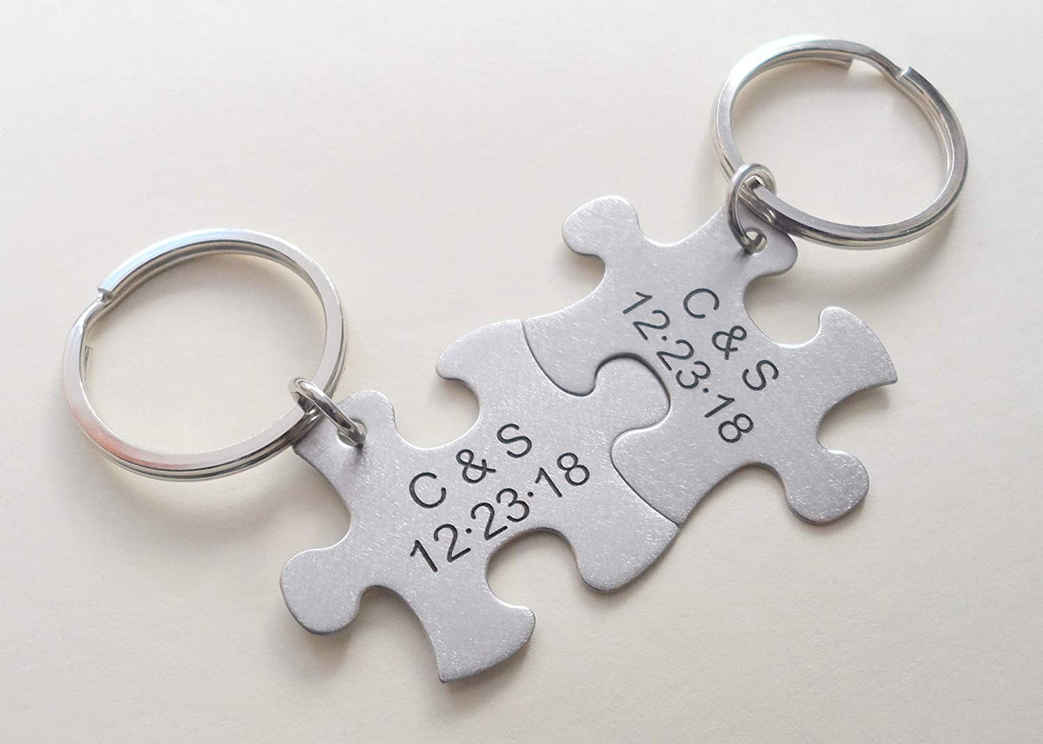 For everyday Gifts S.Steel Personalised heart Keyring ENGRAVED