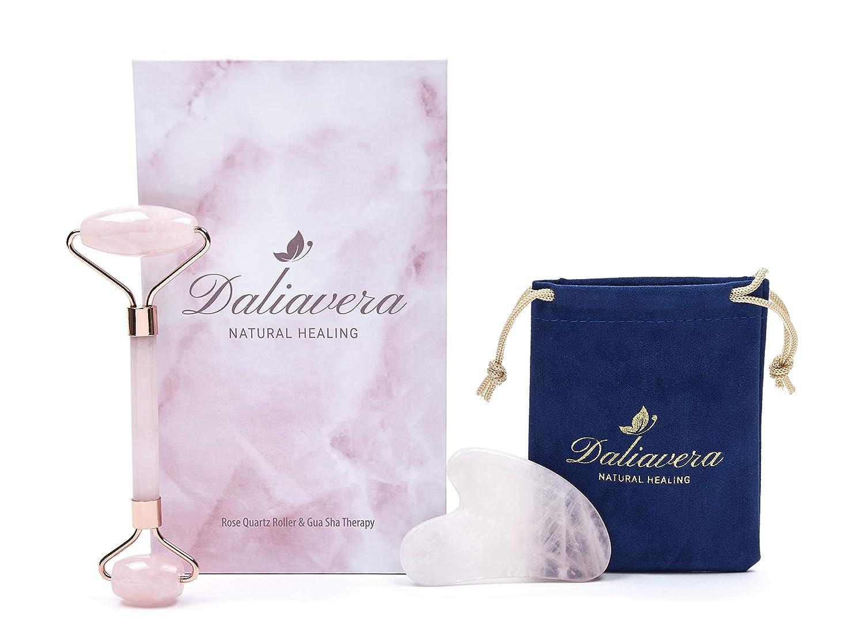 Amazon Com 4 In 1 Rose Quartz Roller Daliavera Face Massager Gua