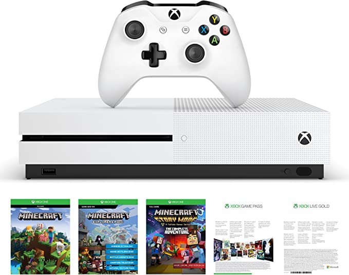 Xbox One - Consola S De 500 GB + Minecraft +3M Live Gold: Amazon ...