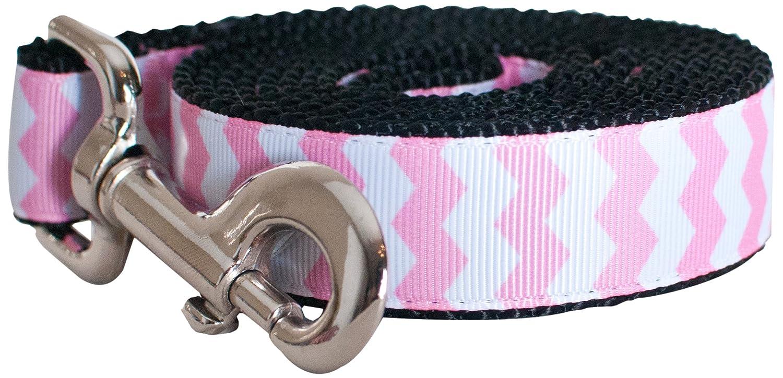 Small Leash Paw Paws USA Chevron Dog Leash, Small, Pink