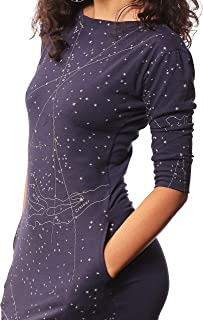 product image for 3/4 Sleeve Mod Dress in Galactic Print