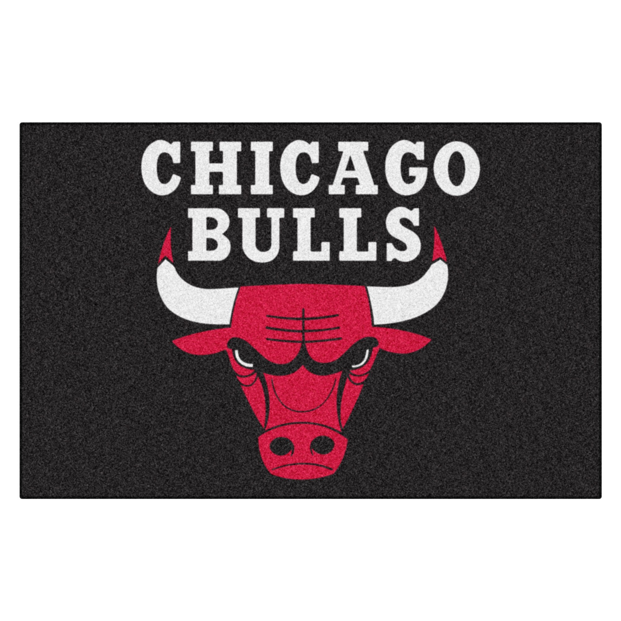 FANMATS 11902 NBA Chicago Bulls Nylon Face Starter Rug , 19''x30'' by Fanmats