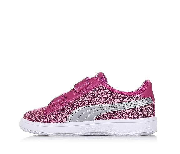 3138f743757 Puma Smash v2 Glitz Glam Magenta Sneakers Scarpe Bambina 367378-03   Amazon.it  Scarpe e borse