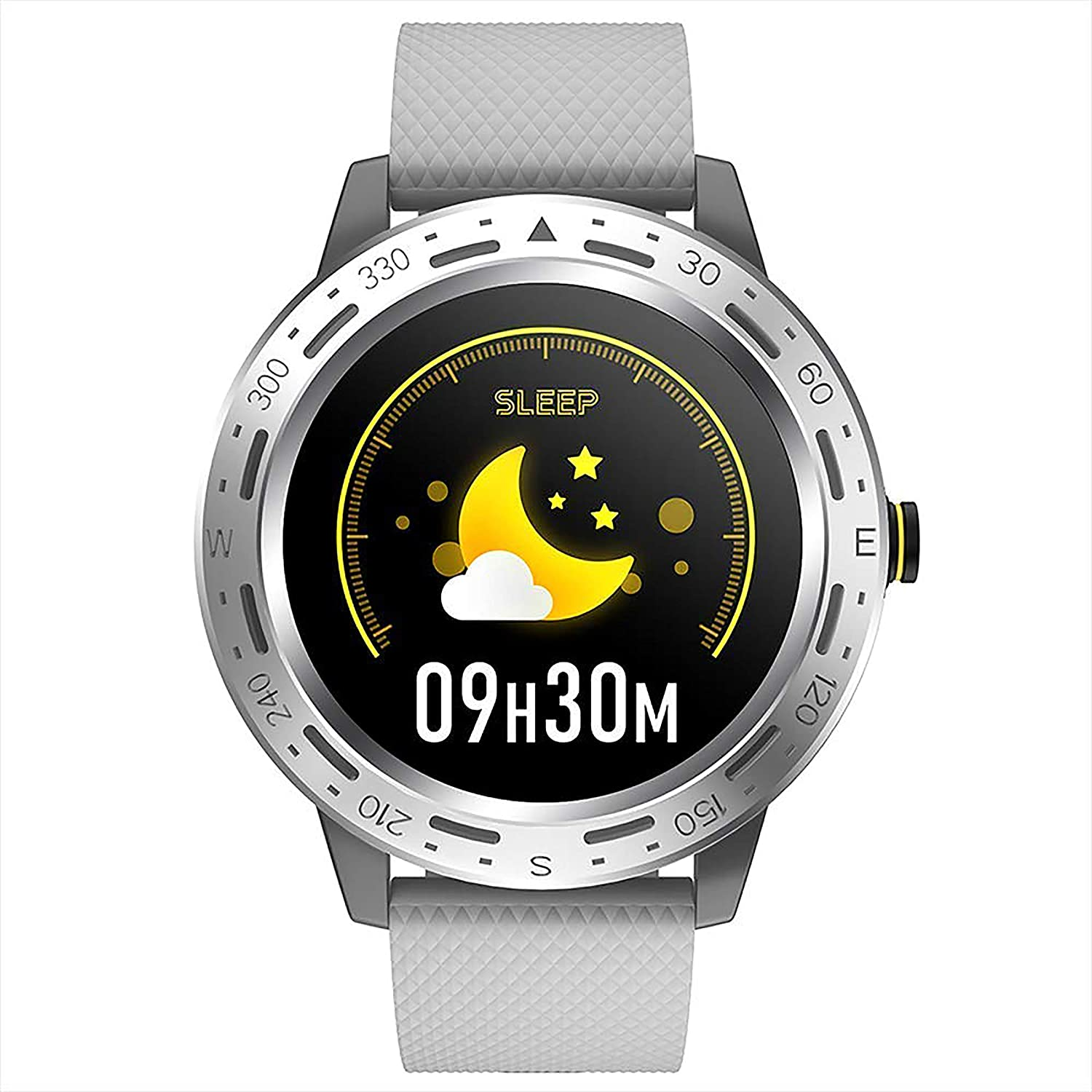 Melete Bluetooth Fitness Watch with Full Touch Screen Display