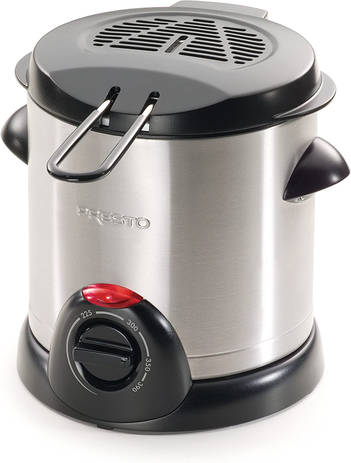 Presto 05470 Stainless Steel Electric Deep Fryer, Silver (Renewed)